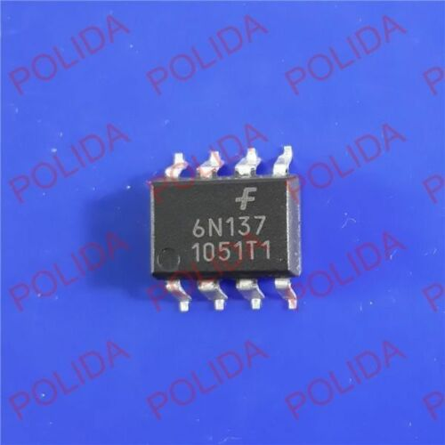 SMD 6N137 6N137S 6N137SM 10PCS coupleurs optoélectriques Fairchild//VISHAY//TOSHIBA//QTC SOP-8