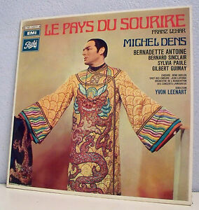 2-x-33T-LE-PAYS-SMILE-Franz-LEHAR-LP-12-034-M-DENS-ANTOINE-SINCLAIR-Operetta