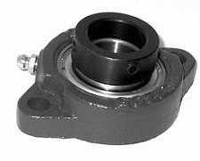 12 Light Duty Two Bolt Flange Bearing With Lock Collar