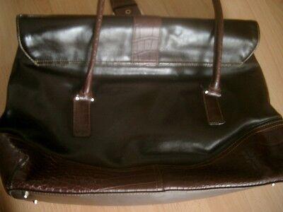 braune Damen Handtasche 40 cm x 27 cm x 8 cm