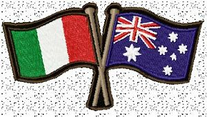 AUSTRALIA-ITALY-CROSSED-FLAGS-BIKER-PATCH-100-X-55MM