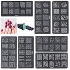 20 Design Set Nail Art Polish Manicure Stamping Template Plate Scraper DIY Hot