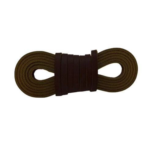 72in Genuine Cowhide Leather 0.1/'/' Square Shoe Boot Laces Thong Extra Strong