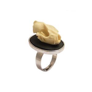 Bat-skull-ring-gothic-goth-silver-adjustable-vegan-taxidermy-steampunk-unisex