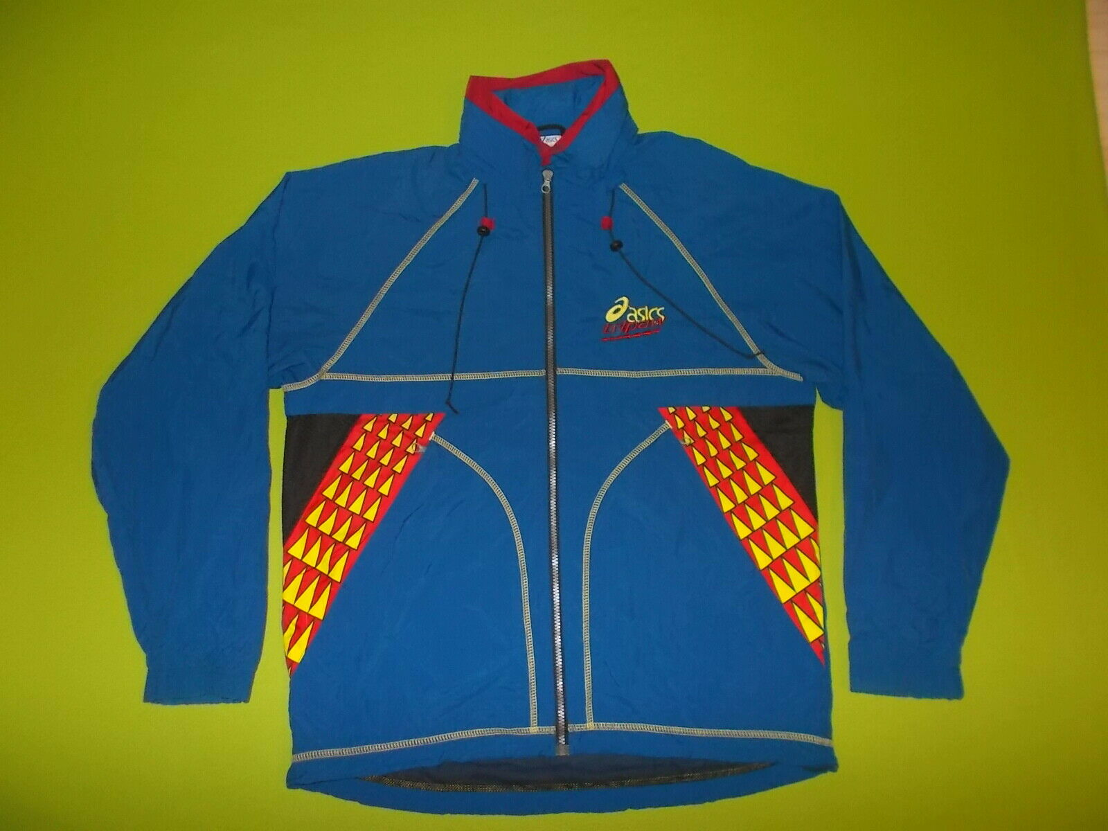 VINTAGE Jacket ASICS TRIPAW (L) PERFECT !!! Only ONE Running Blue Track Jacket