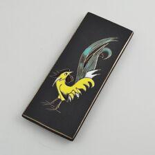 Ruscha #7340 Wandbild - Wandplatte - Hahn - Vintage - Keramik - Rooster - Cock