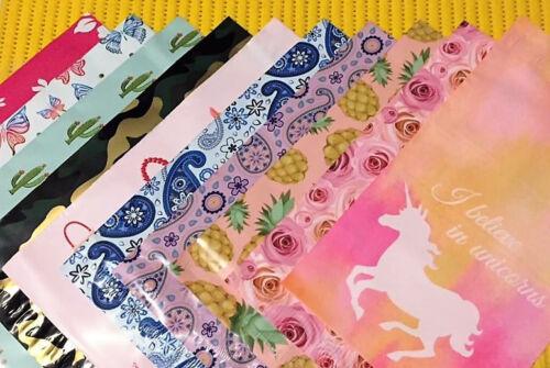 "BONUS 6/"" x 9/"" ~ I Believe! 5 PINK UNICORN 10/"" x 13/"" Designer Poly Mailers"