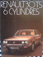brochure 1973 RENAULT 30 TS 6 CYLINDRES   / COULEURS / FRANCAIS
