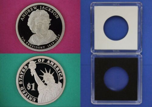 2008 S Proof Andrew Jackson Dollar With 2x2 Case Flat Rate Shipping