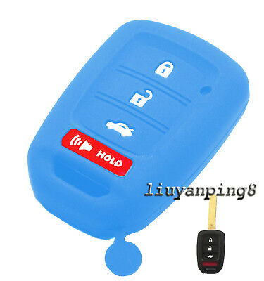 4 BUTTON SILICONE CAR FOB SMART KEY COVER FIT FOR 15 16 HONDA ACCORD CIVIC CR-V