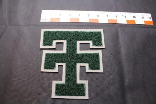 Chenille Patch Texas Tech TT  Green /& Grey  Vintage NOS Varsity Letterman