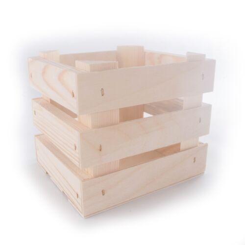 Small Wooden Crates Display Shelf Retail Box Craft DIY Square or Rectangular
