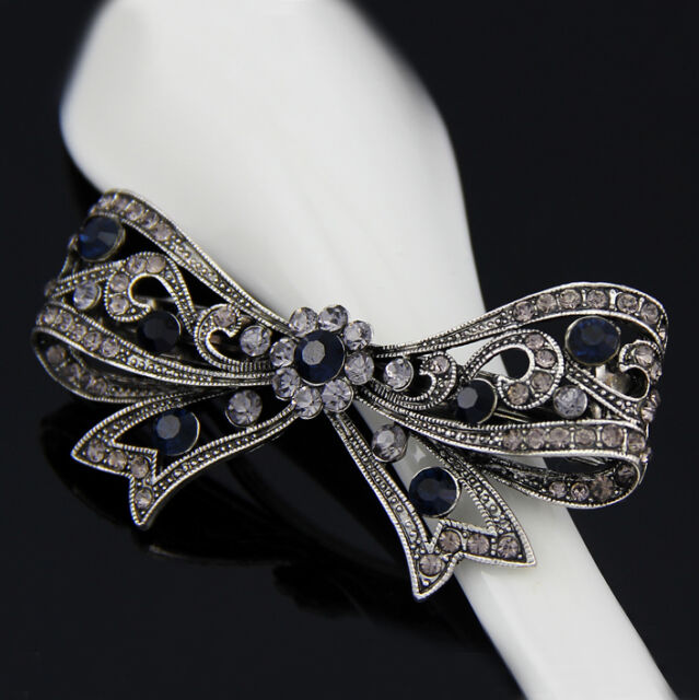 Hot Women Rhinestone flower Wedding Party Hair Clip Accessories Hairpin barrette