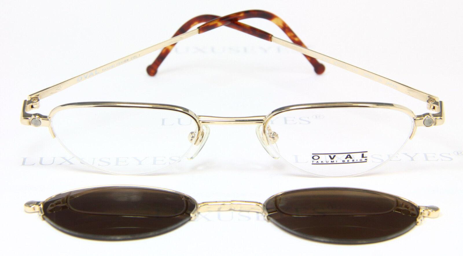 TAKUMI OVAL Brille Eyeglasses Occhiali Gafas TO-578 Sun Clip Rare ...