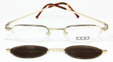 TAKUMI OVAL Brille Eyeglasses Occhiali Gafas TO-578 Sun Clip Rare Vintage JAPAN