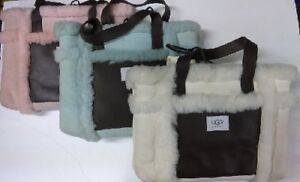 NEW-Authentic-UGG-Australia-Suede-Leather-Shearling-Sherpa-Sheepskin-Tote-Bag