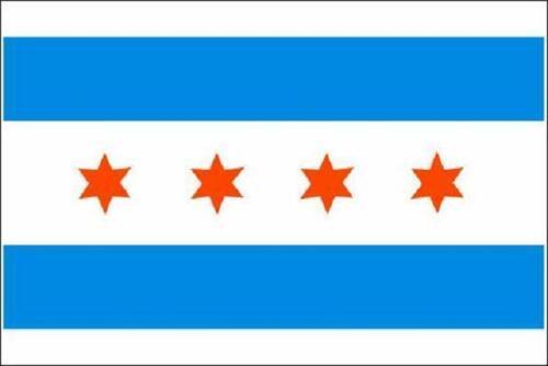 Fahne Flagge Chicago 60 x 90 cm Bootsflagge Premiumqualität
