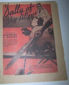 Vintage Aviatrix Dorothy Hester Sheet Music 1932 Female Airplane Stunt Pilot