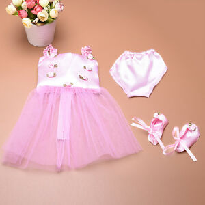 Cute-Doll-Clothes-Ballet-Ballerina-Outfit-Fit-Girl-Other-18-Inch-Dolls-Low-Price
