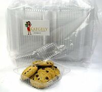 Katgely Extra Clear Square Cookie Container, Cake Slice Container, Pack Of 160 ( on Sale