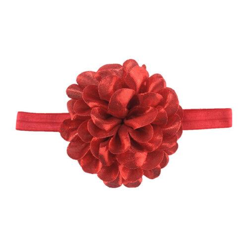 Baby Girls Glitter Flower Bow Headband Ribbon Elastic Hairband Newborn Headdress