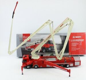 1-50-Scale-Sany-62M-Water-Tower-Fire-Truck-Metal-Model-Diecast