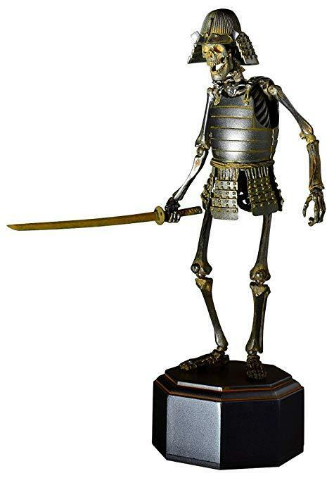 KAIYODO Takeya JIZAI OKIMONO KT-009 Samurai Skeleton Iron Ver from Japan F/S NEW