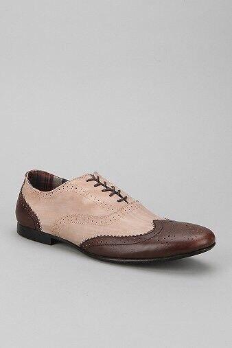 BED STU Mens Ellington Oxford Brown Tan Leather Wingtip shoes 10 Lace Up