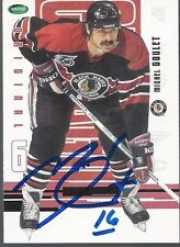 Chicago Blackhawks MICHEL GOULET Signed Card