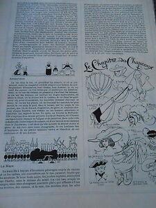 Chapitre Des Chapeaux Paille Feutre Crin Print Humour 1912 6leecsx6-07183241-360380486