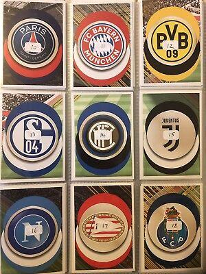 20 loose stickers PANINI FIFA 365 2019 Autocollants-Lot de 10 30,40,50