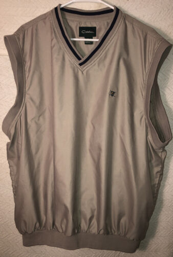 Catalina Golf Wind Vest Tan Men's Large XL