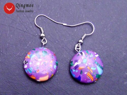 30*40mm Oval Pendant Purple Turquoise Necklace Bracelet Earring set for Women