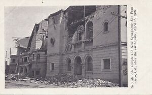 SAN FRANCISCO CA – Scottish Rite Temple and New Synagogue After Earthquake - udb