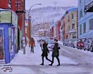 Mount-Royal-Le-Plateau-8x10-egg-tempera-Darlene-Young-Canadian-Artist
