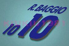 Italy Baggio #10 World Cup 1994 Awaykit Nameset Printing
