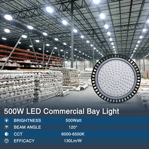 UFO High Bay LED Shop Light 100//200//500W for Commercial Warehouse Garage Factory