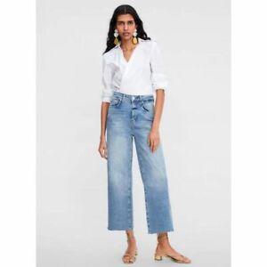 Zara Basic Z1975 Denim Wide Pants