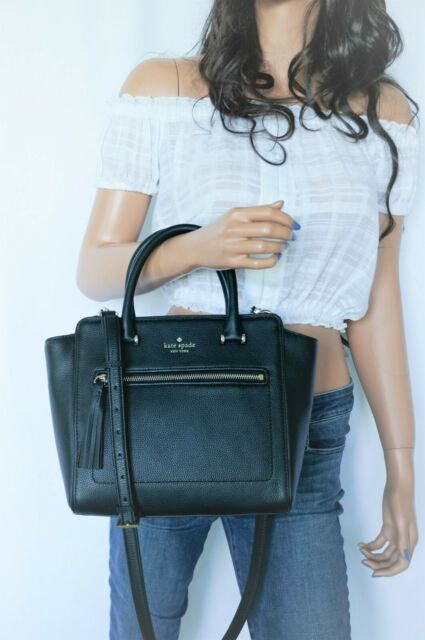 green New Kate Spade small Allyn Chester street Leather Satchel handbag Spruce