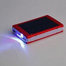 50000mAh Portable Super Solar Charger Dual USB External Battery Power Bank Red