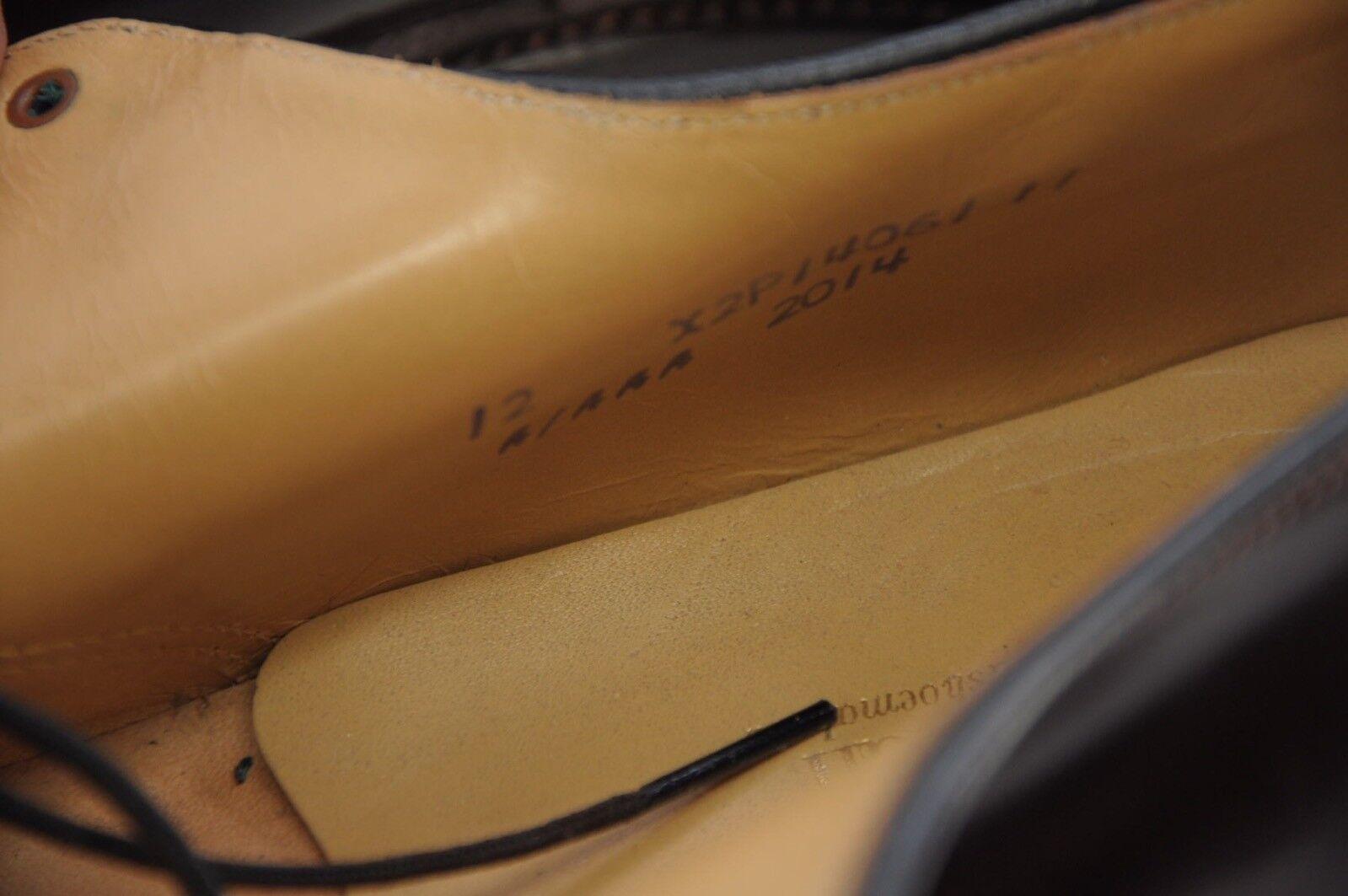 NEW Shell Shell NEW Cordovan Handmade Bostonian Plain Toe Blucher PTB Dress Shoes 12A 92b302