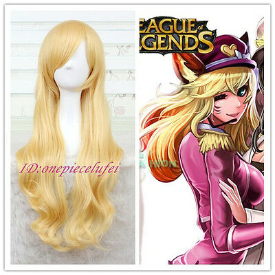 League of Legends Ahri Long Golden Blonde Anime Cosplay Wig
