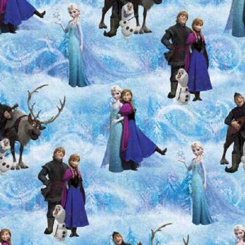 Cuarto gordo carácter de Frozen de Disney Algodón Acolchado Tela Ana Elsa escénica