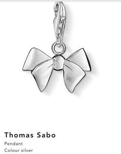Image Is Loading Thomas Sabo Sterling Silver Bow Charm Comes With