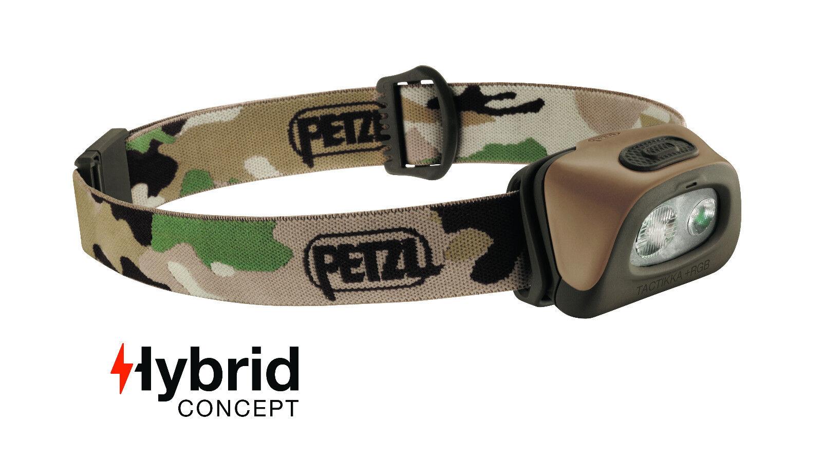 Petzl Headlamp - TACTIKKA + RGB (red, green, bluee) 250 lumens