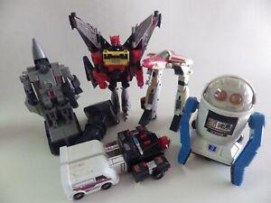 lot Jouet Robot Nikko 1985 Yonezawa Eagle 1986 Bandai TAKARA pvc Métal