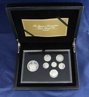 """2013 Silver Proof 7 coin set """"Diamond Jubilee"""" in Case with COA   (X7/24)"""