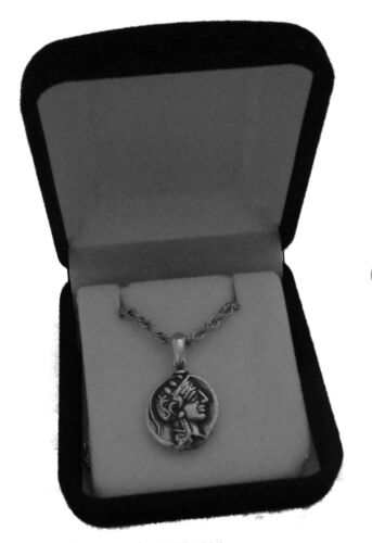 Percy Jackson Necklace Drachm Small Version 47-S ATHENA /& Owl Pend//Chain