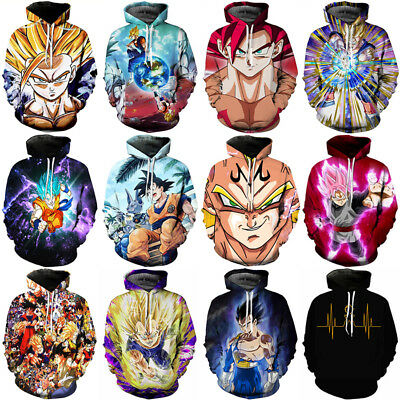 Women Men Lightning Goku Vegeta Dragon Ball  3D Print Casual Hoodie Sweatshirt