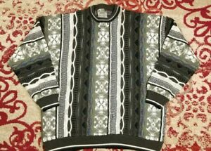 VTG-Le-Tigre-Herren-COOGI-Style-3d-strukturiert-90s-Pullover-Groesse-3xl-Bill-Cosby-Biggie